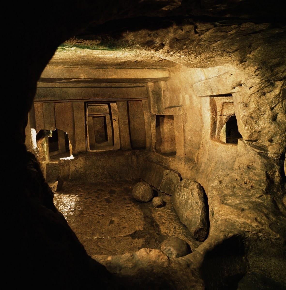The Hal Saflieni Hypogeum, Malta, 3000-2500 BC.