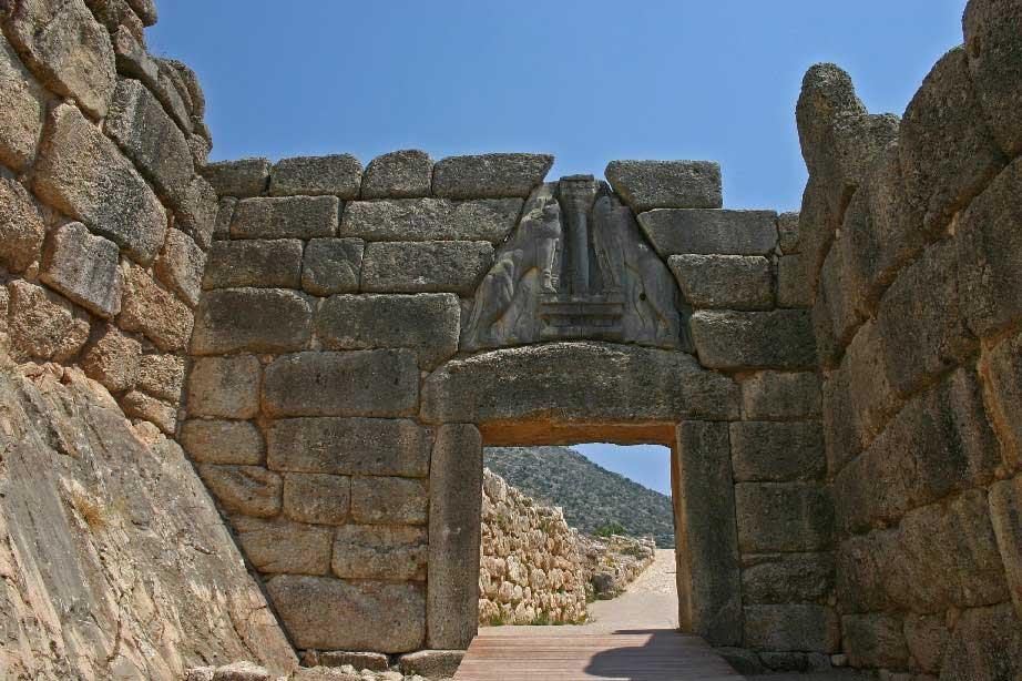 The Lion Gate of Mycenae.