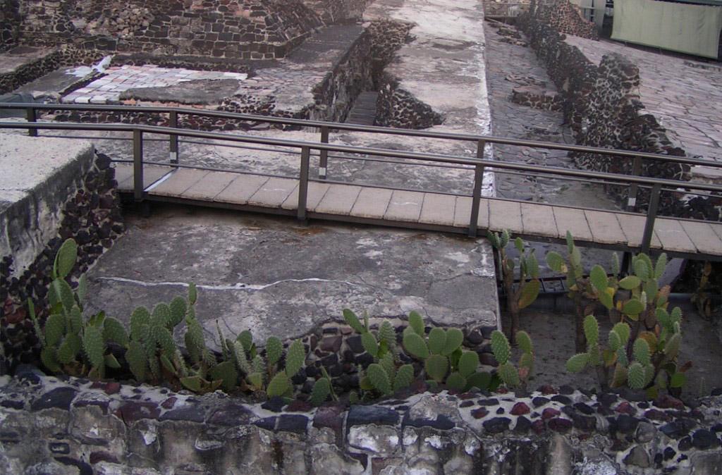 Ruins of Tenochtitlan, Mexico City.