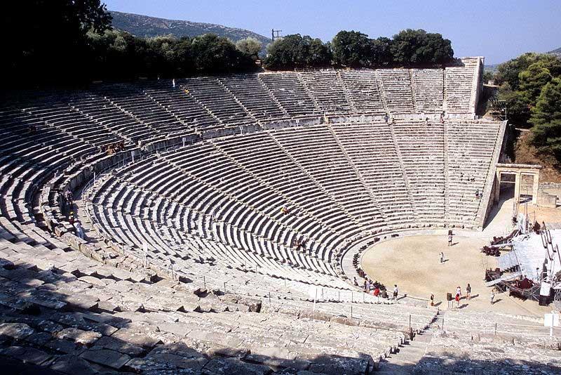 The Epidaurus Theater.