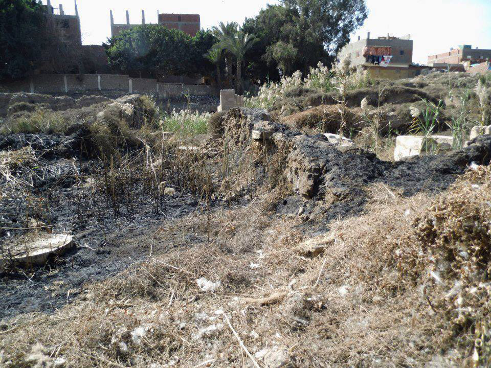 Arab el-Hisn: the Ramesses IX Gate area after the fire.