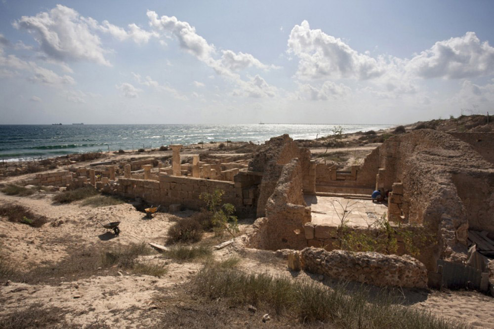 Remains of Roman baths at Leptis Magna. Source:Cecile Degremont/Al Jazeera.