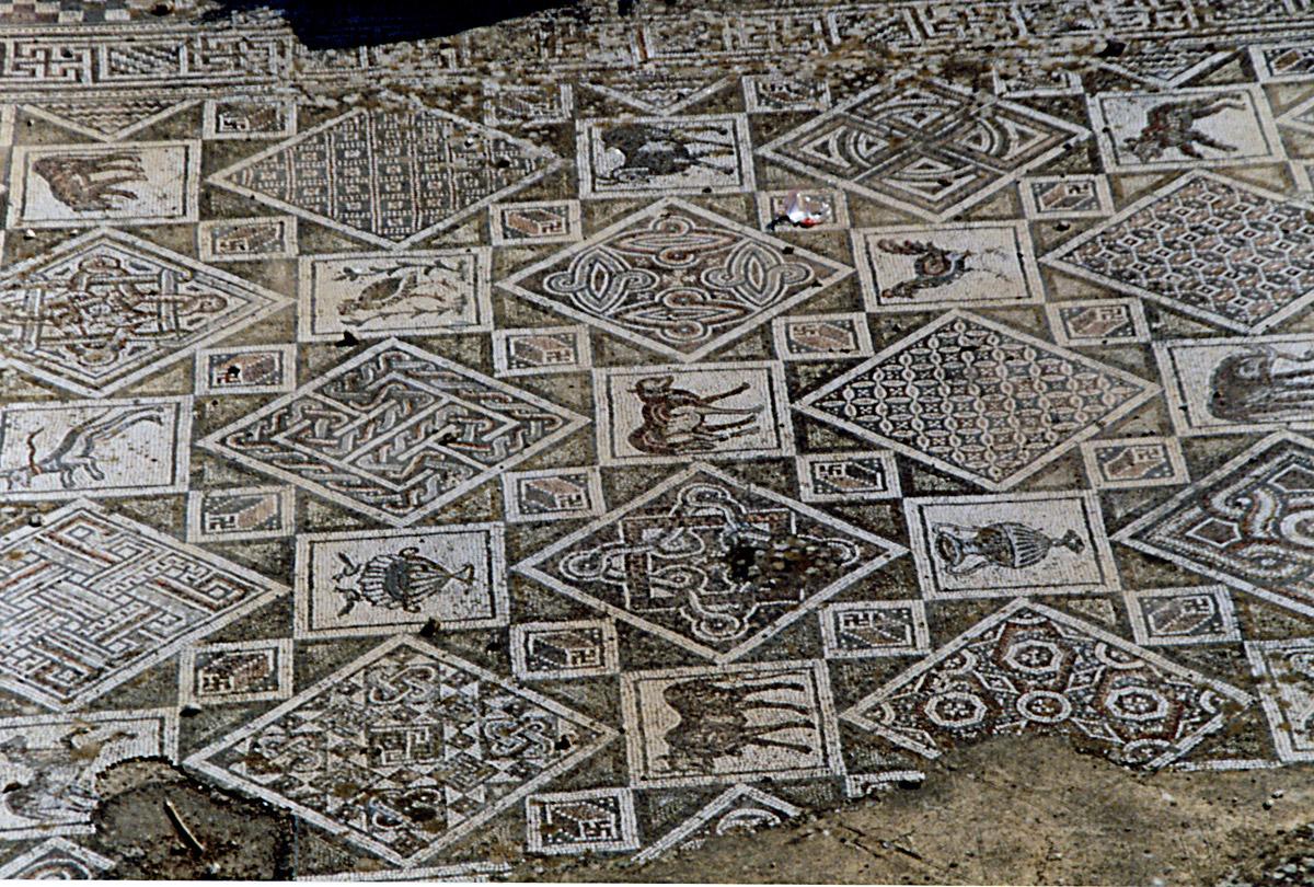 One of many Late Antiquity mosaic floors found so far at Jerash, Jordan.