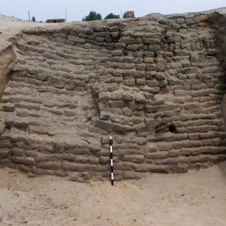 Architectural remains at Tell el Yhahoudiya.