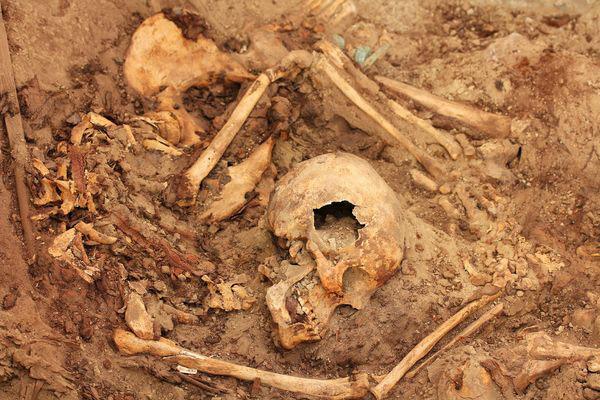 Wari queen remains. El Castillo de Huarmey, Peru, 700-1000 AD. Source: National Geographic.