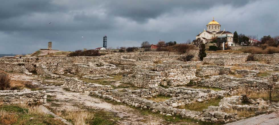 Ruins of Chersonesos, Crimea. Image: Dmitry A. Mottl (Wikimedia Commons, used under a CC BY-SA 3.0).