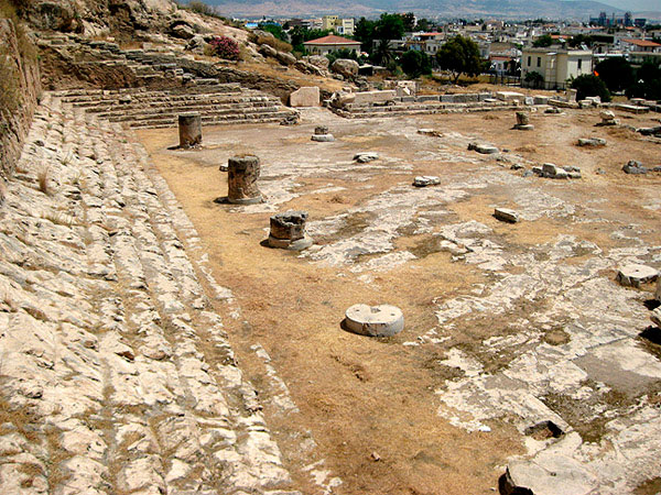 The Telesterion in ancient Eleusis. (photo credit: DIAZOMA)