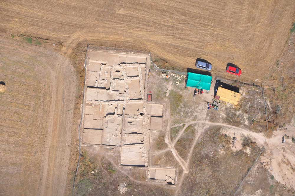 Air photography of the building excavated at the site in 2012. (photo: Department of Antiquities, Republic of Cyprus)