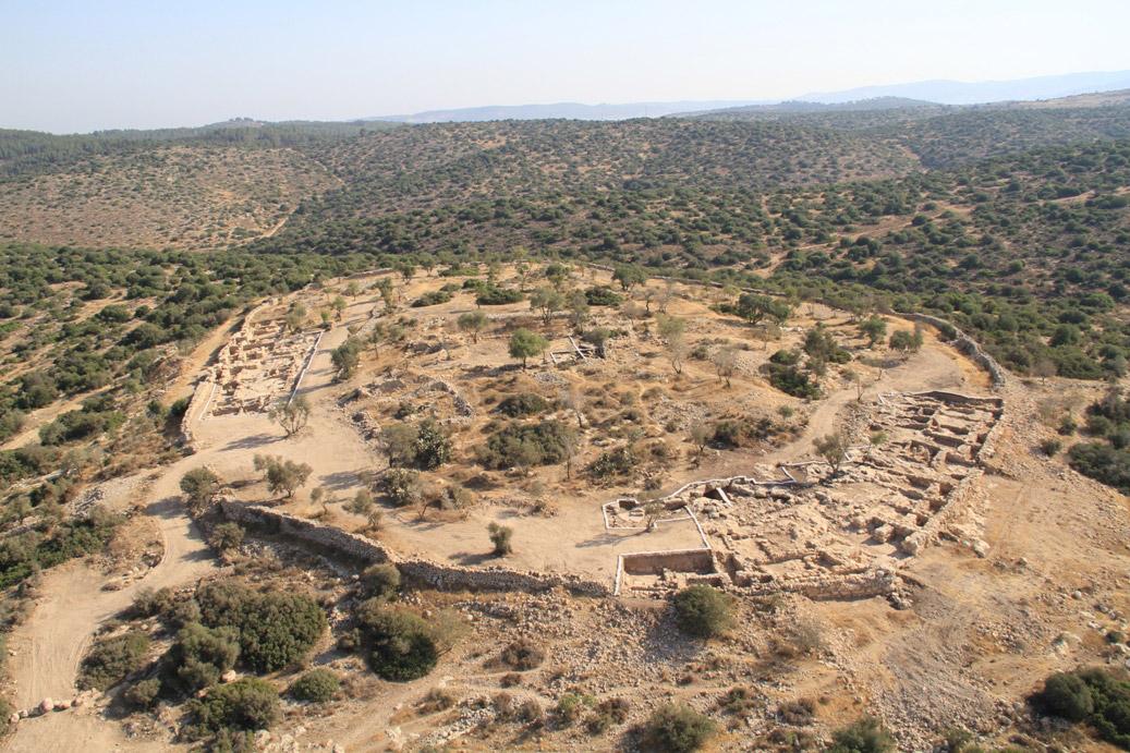 The site at Khirbet Qeyafa.