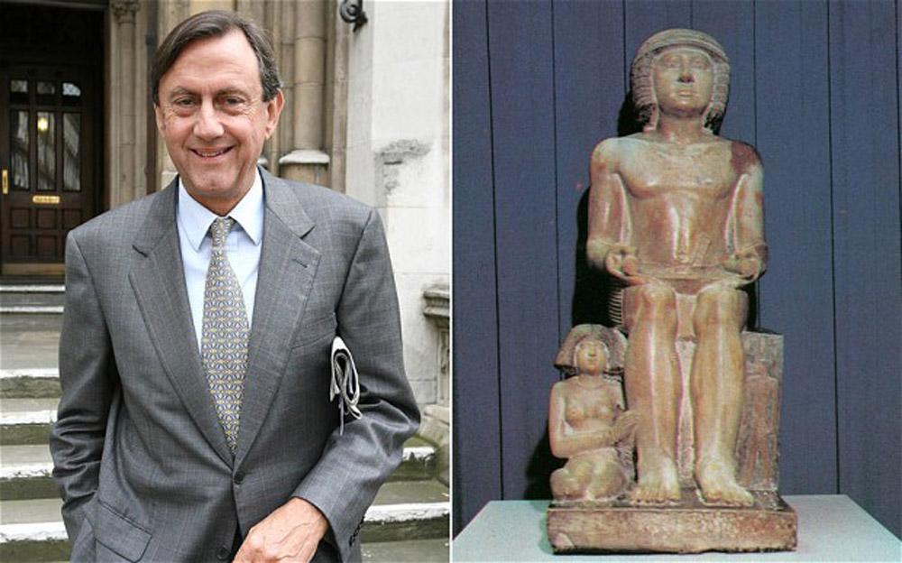 Lord Northampton and the statue of Sekhemka.