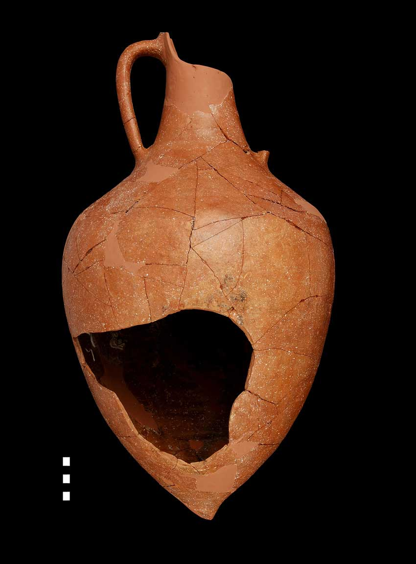 The clay pot which contained the hoard. (Photo credit: 33rd EPCA)