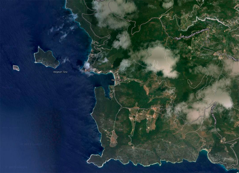 Panormos, Skopelos. (Photo: Google Earth)