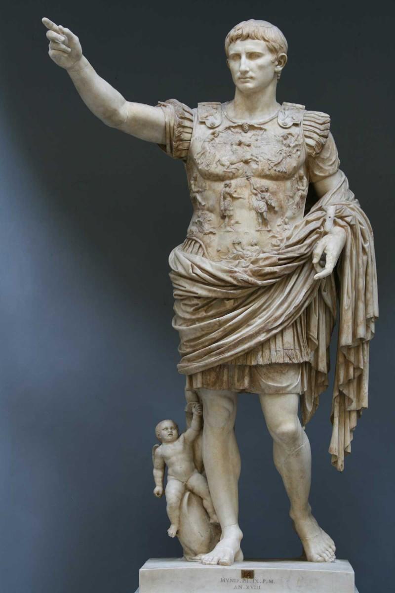 Augustus of Prima Porta. 1st century.