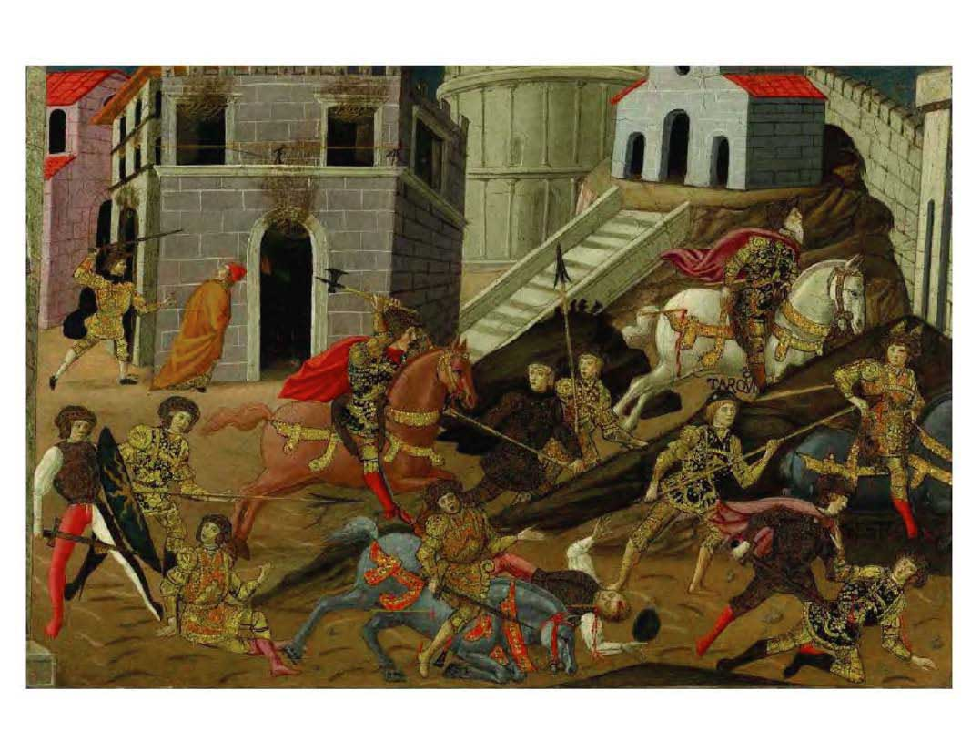 """""""The Expulsion of King Tarquinius, Superbus and His Son Sextus from Rome"""", the Master of Marradi, active in Florence during the second half of the 15th century."""