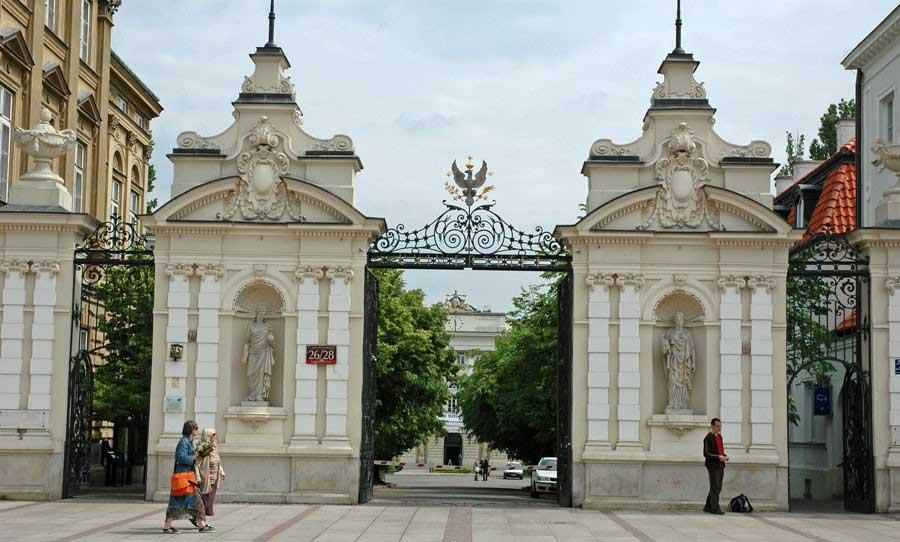 Warsaw University, entrance.
