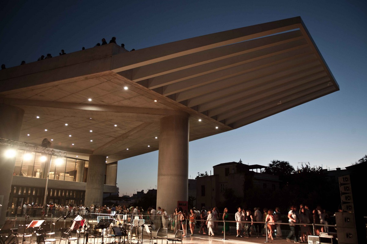 The Acropolis Museum by night.