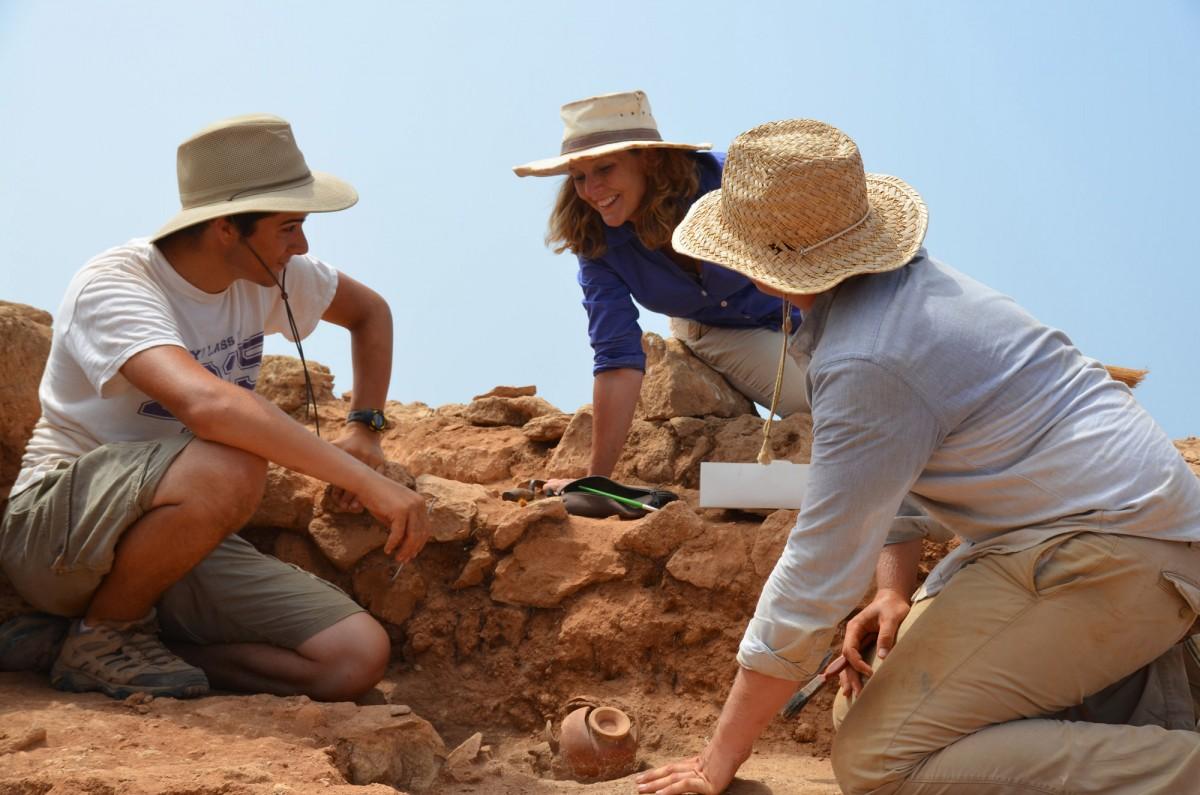 Digging at Geronisos, Cyprus.