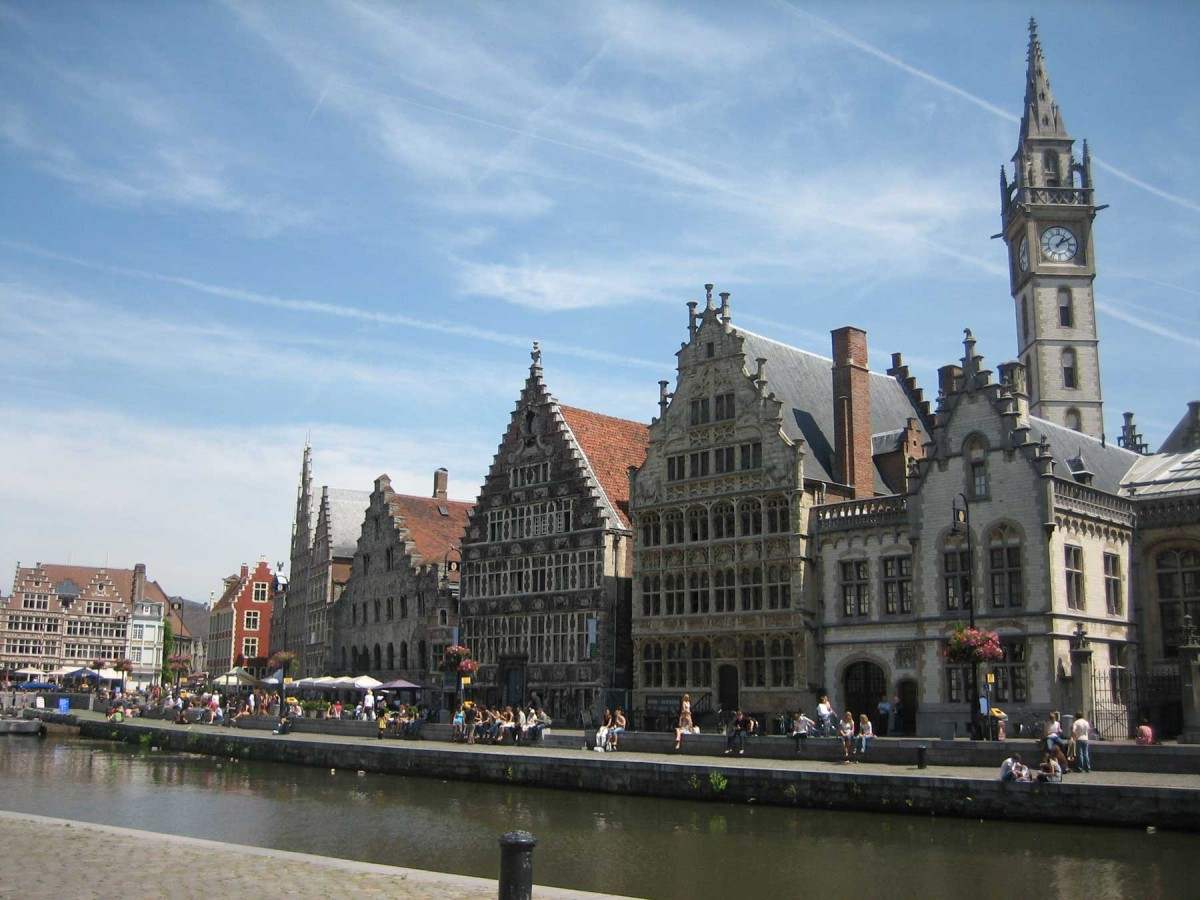 View of the Graslei, in Ghent.