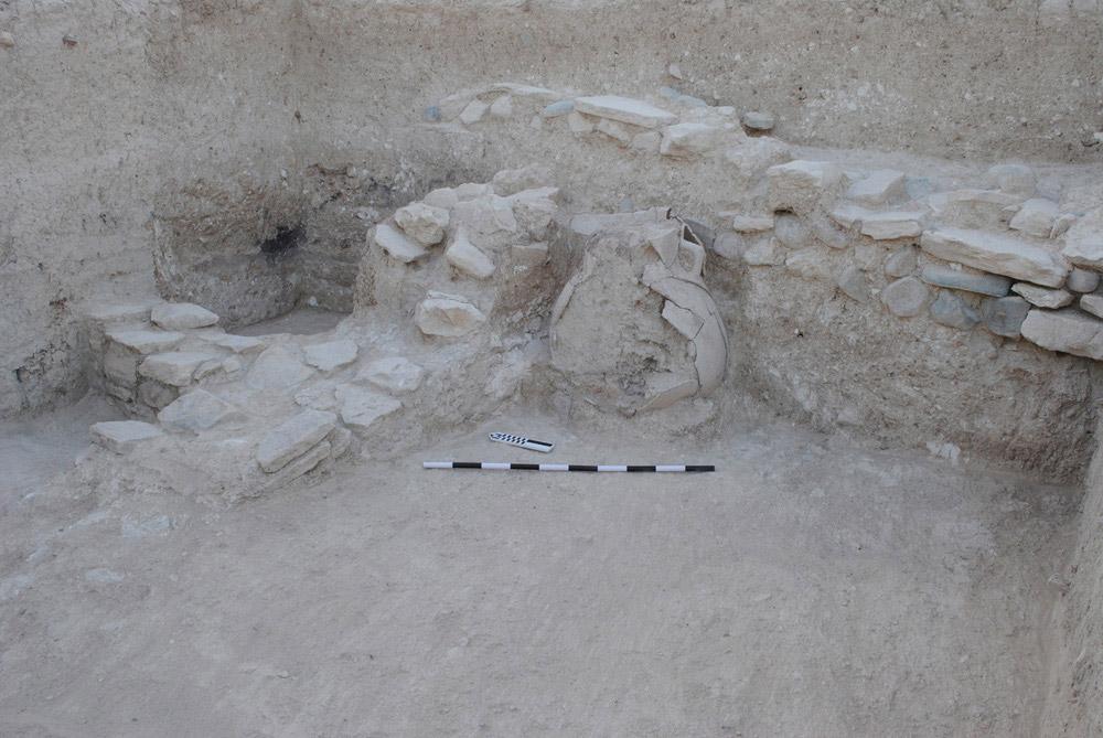 Storage pithoid found in situ at Politiko-Troullia, Cyprus. 2000-1500 BC.