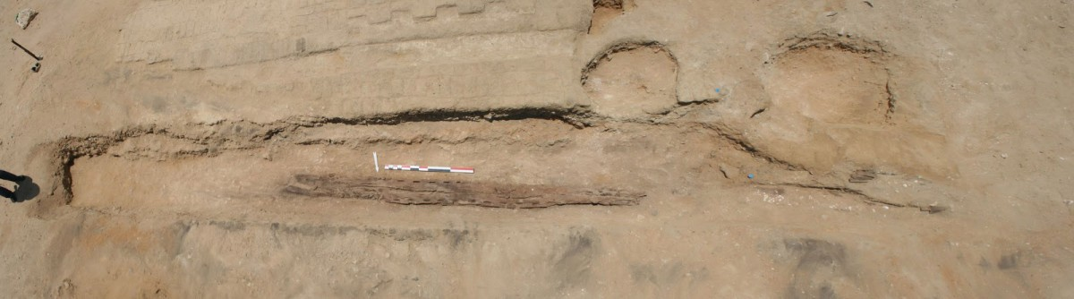 The site at Abu Rawash where the planks came to light.