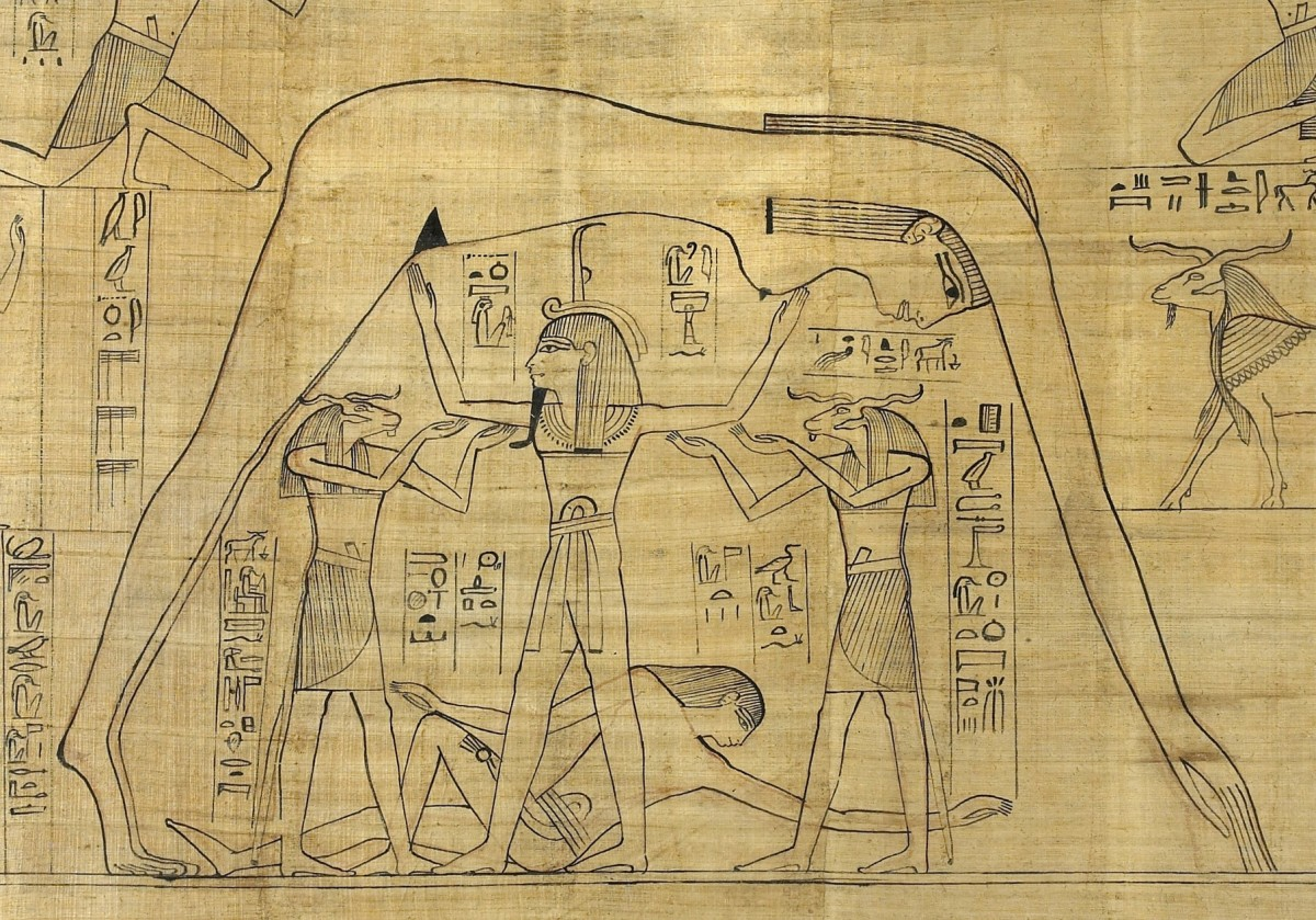 The Cosmos according to the ancient Egyptians.