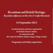 Byzantine influences on the Art and Crafts Movement