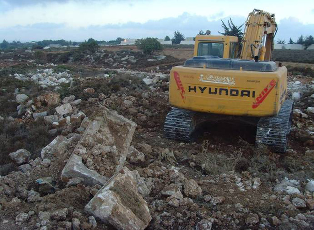 Cyrenae. Heavy machinery used to level the ground, destroying part of the site.