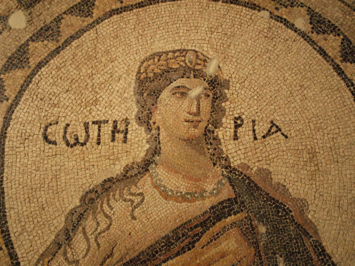 This mosaic of the personification of Sotiria (5th century, from Narlica near Antioch) was on display in the old Hatay museum.