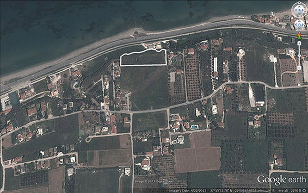 Google Earth view showing purchased property in Korakou, near Corinth. Source: ASCSA.