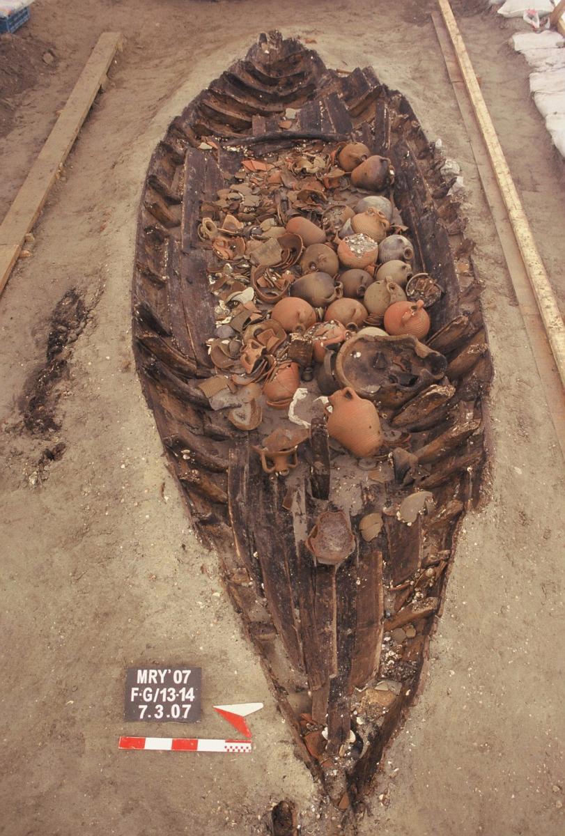 Ship found at Yenikapi.