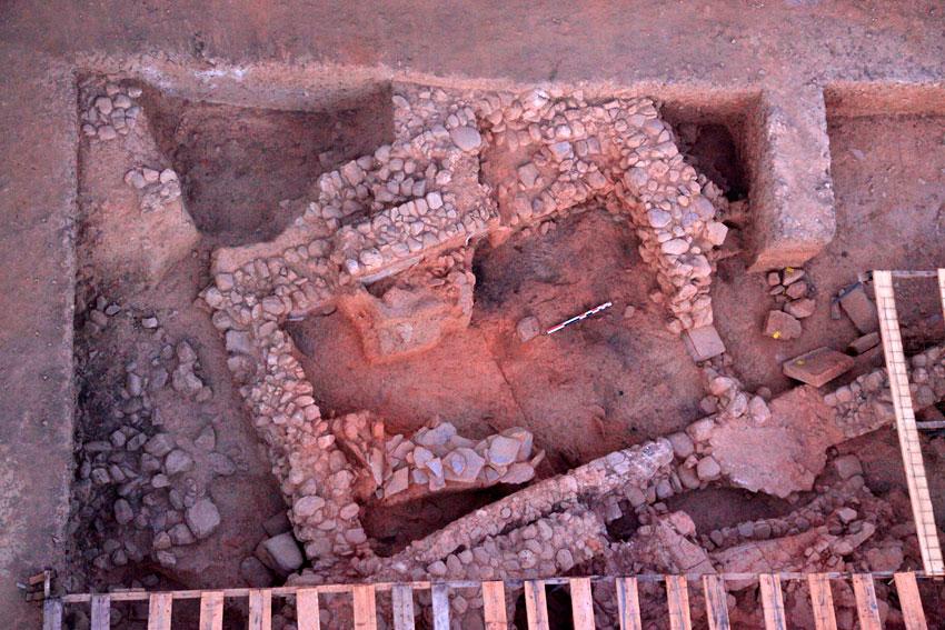 Aghios Vassilios of Xirokambi: Room A10 (excavation season 2012).