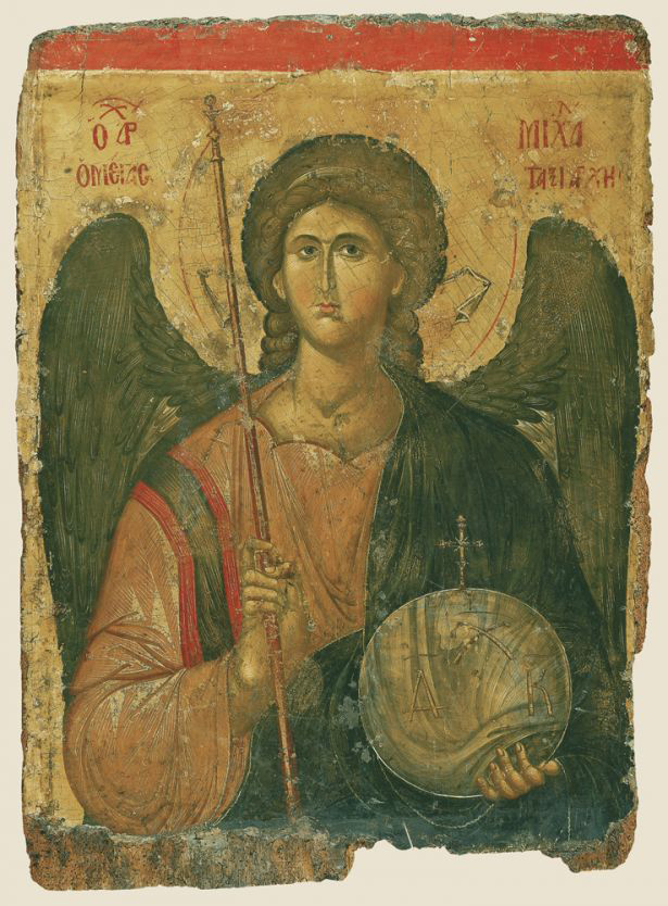 Archangel Michael, First half 14th century tempera on wood, gold leaf overall: 110 x 80 cm (43 5/16 x 31 1/2 in.) Byzantine and Christian Museum, Athens