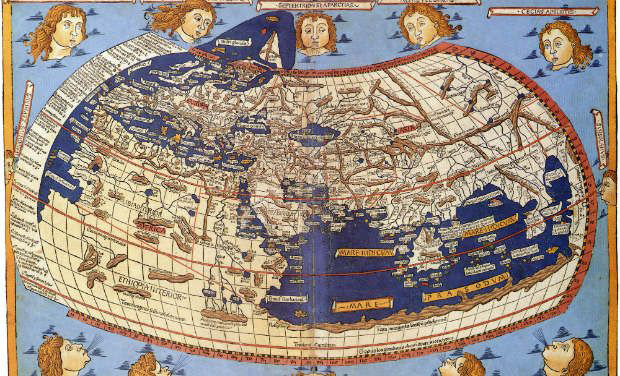 The world according to Cl. Ptolemy. Map, 15th century. Photo credit: Wikimedia.