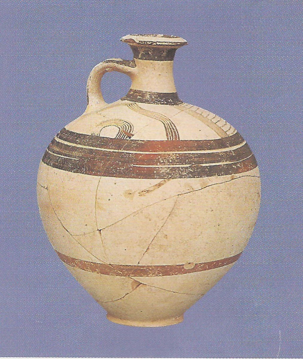 Clay vessel found in the remains of the building complex.
