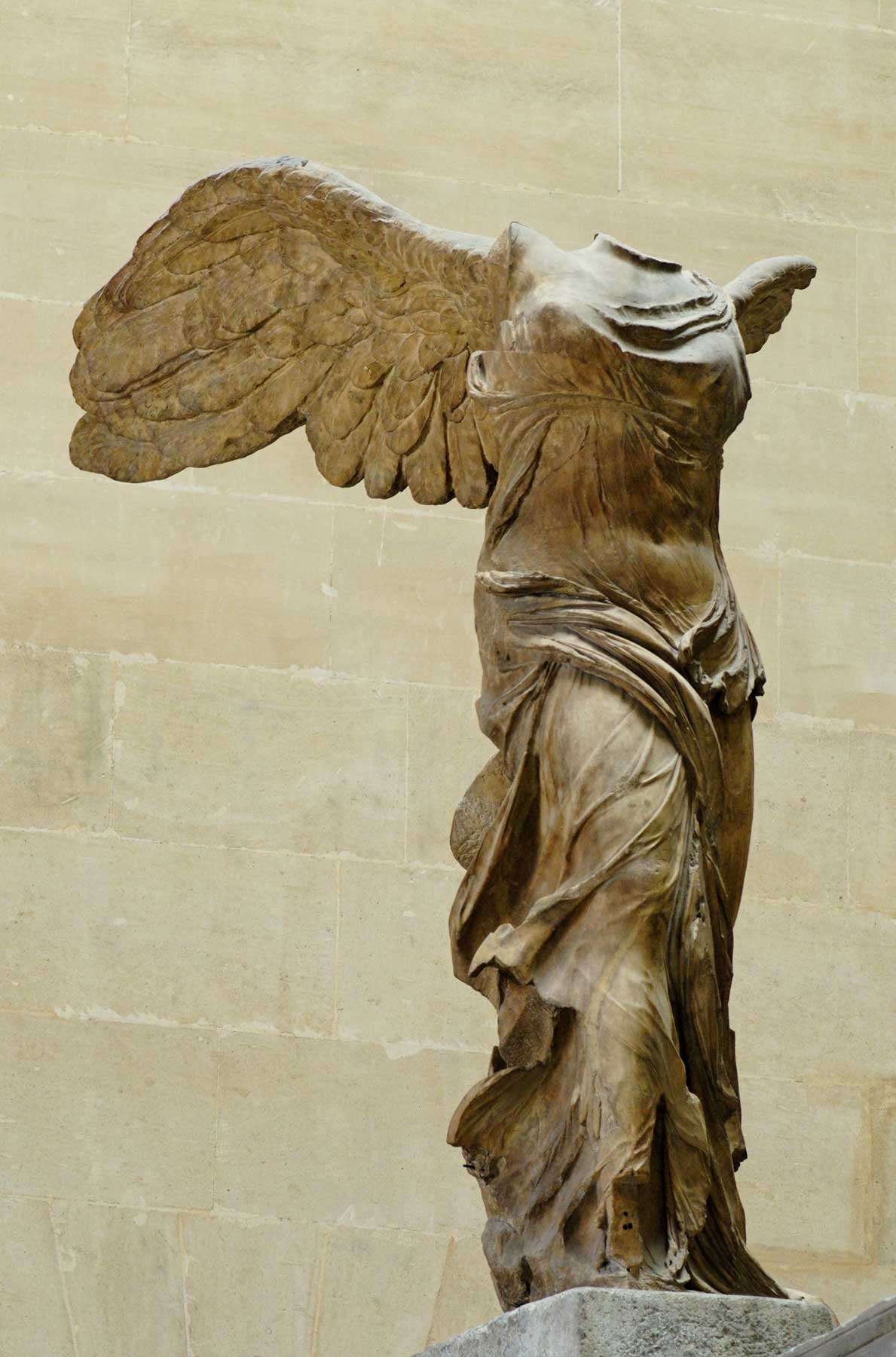 Winged Nike of Samothrace. Parian marble, ca. 190 BC.