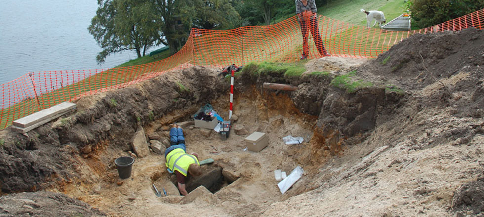 The archaeological site of Spinningdale, Scotland.
