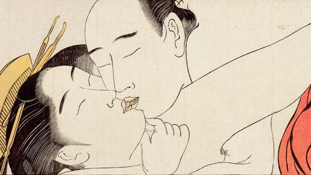 Torii Kiyonaga (1752–1815), detail taken from Sode no maki (Handscroll for the Sleeve), c. 1785. BRITISH MUSEUM.