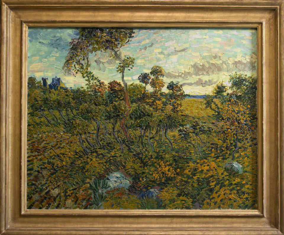 """""""Sunset at Montmajour"""" by Vincent van Gogh. AP Photo/Peter Dejong"""