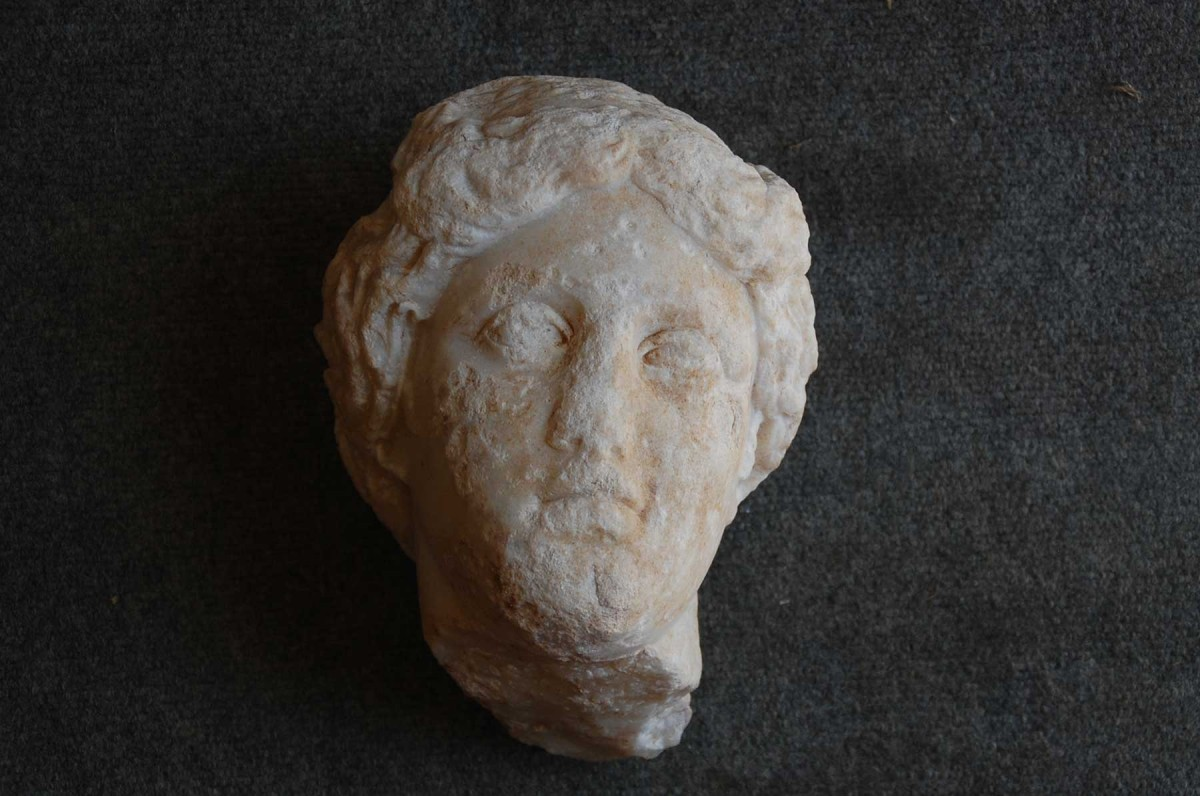 A life-size head of the goddess Aphrodite is the first example of a monumental statue found at a southern Turkey archeological site exploring the ancient city of Antiochia ad Cragnum. (Michael Hoff, UNL)