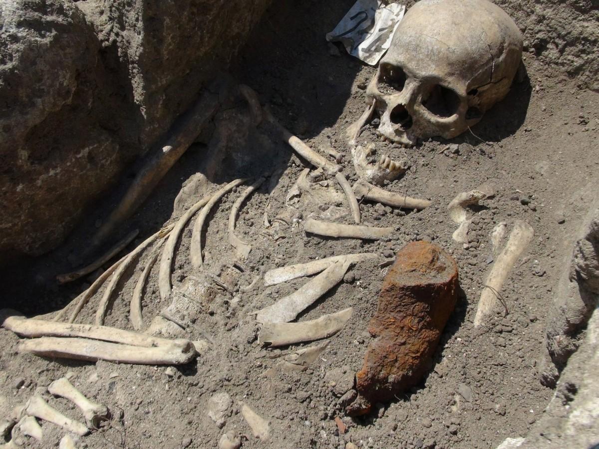 A deviiant burial from Sozopol, Bulgaria.