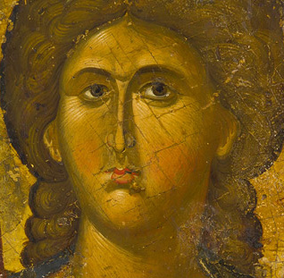 The Archangel Michael, first half of 14th century, tempera on wood (detail). Byzantine and Christian Museum, Athens.