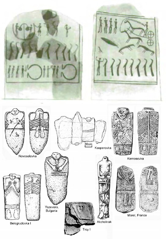 Objects providing pictorial evidence of initiation rites in different Indo-European cultures. Credit: D. Anthony.