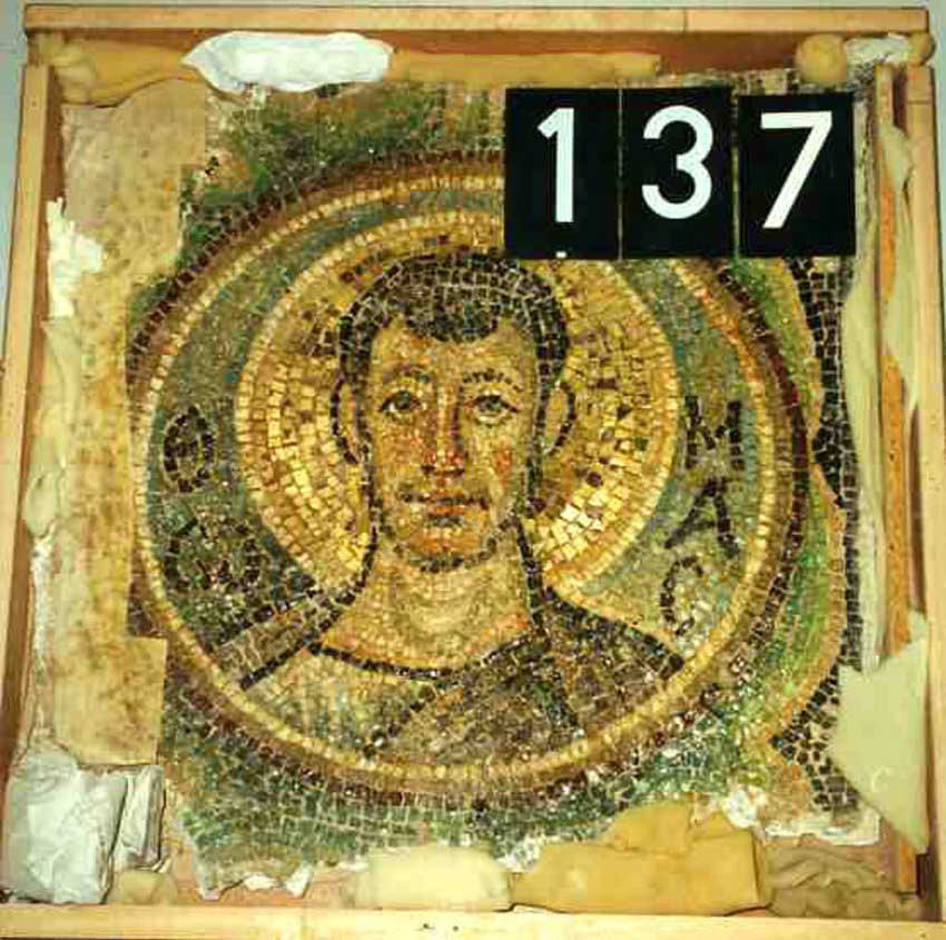 Mosaic of Panagia Kanakaria monastery at Lythragomi (Cyprus).