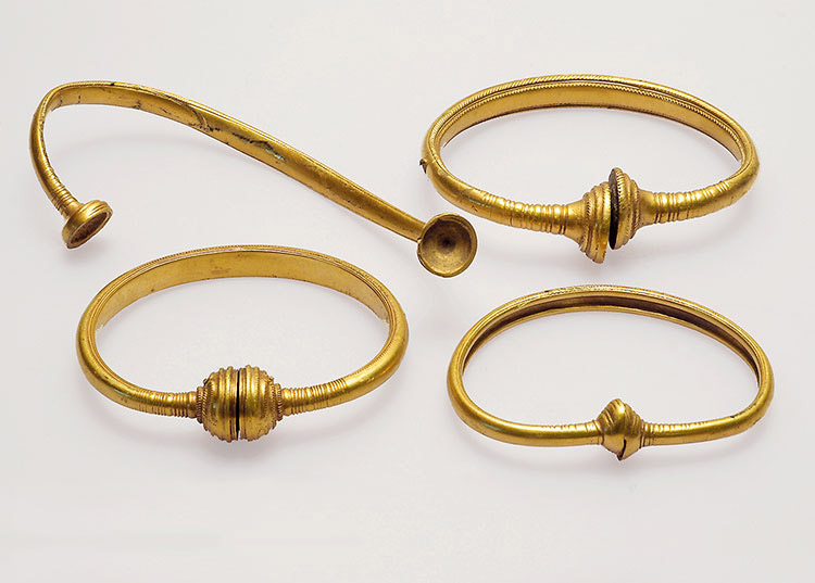 The four newly-found rings from Boeslunde. Photo: Museum Vestsjælland.
