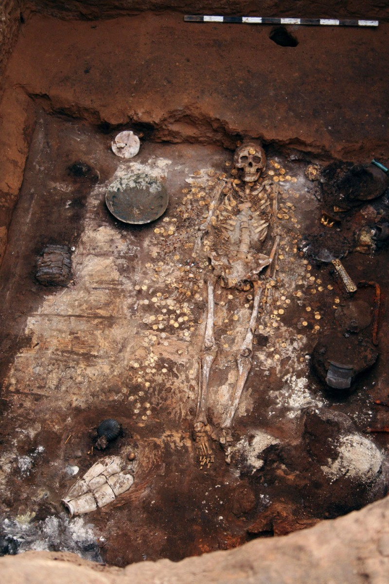 Sarmatian Kurgan burial, Mound 1 at Filippovka 1 , Russia.