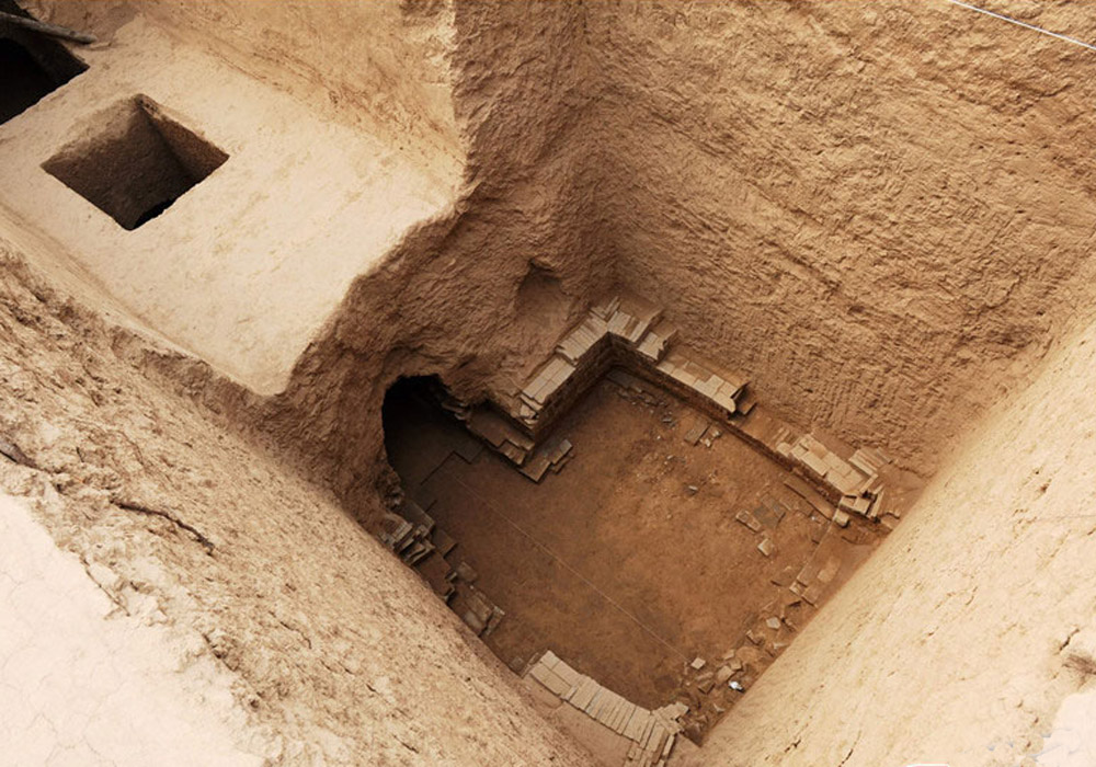 The inside of a monumental tomb found in Xianyang.