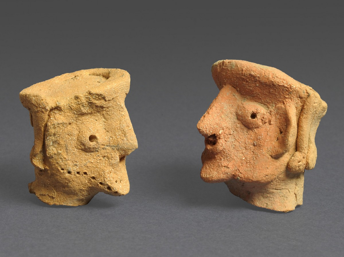 Figurines from Tel Motza, Photograph: Clara Amit, courtesy of the Israel Antiquities Authority.