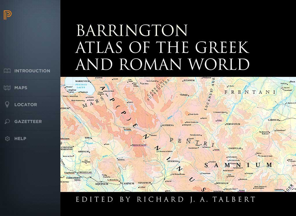 Homepage of the Barrington Atlas of the Greek and Roman World.