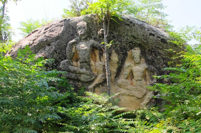 Buddist rock-carved statues at Shanglo Bagh, Kokaria, Pakistan. Photo: UPI Next/Fazal Khaliq.