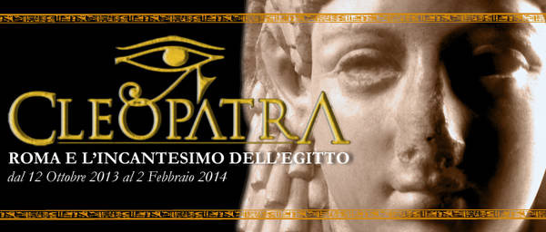 Poster for the exhibition on Cleopatra in Rome.